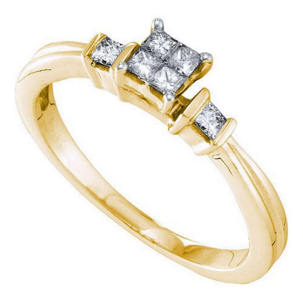 14KT Yellow Gold 0.25CTW DIAMOND INVISIBLE RING #1AC56075