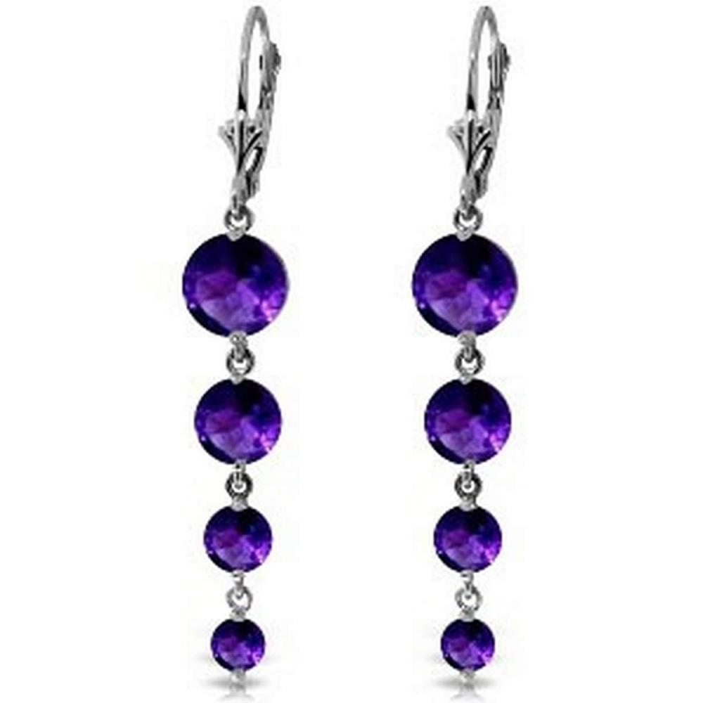 7.8 CTW 14K Solid White Gold Love Survives Amethyst Earrings #1AC92335