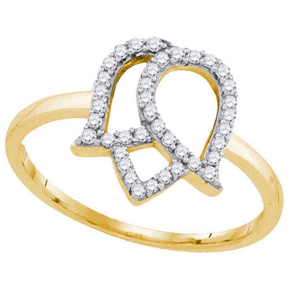 10K Yellow-gold 0.22CTW DIAMOND FASHION RING #1AC64392