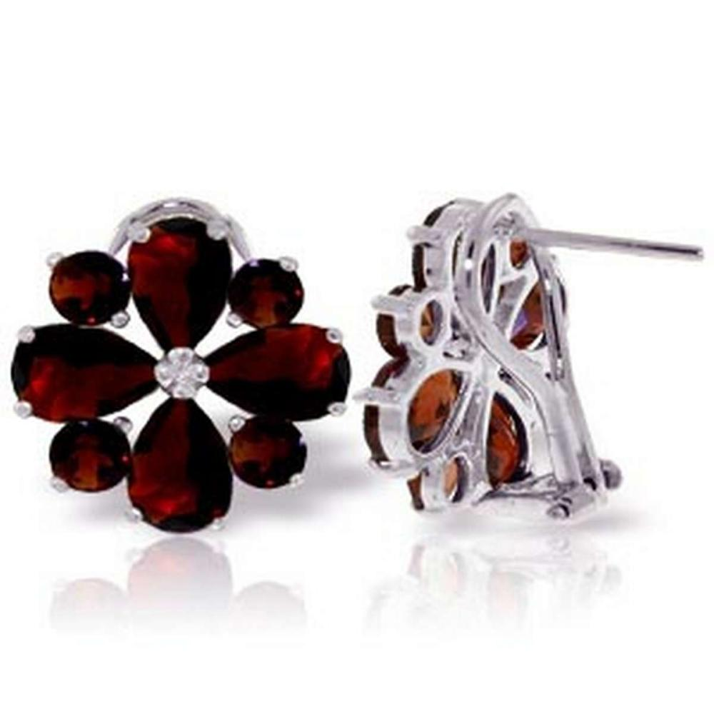 4.85 CTW 14K Solid White Gold Sultry Touch Garnet Earrings #1AC92596