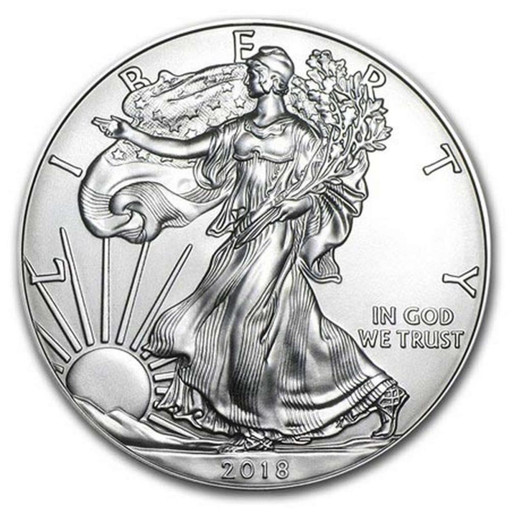 2018 1 oz Silver American Eagle BU #1AC96632