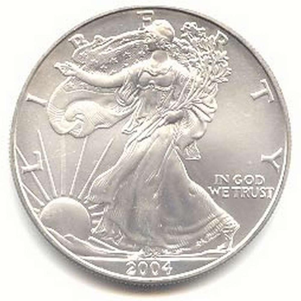 2004 1 oz Silver American Eagle BU #1AC96646