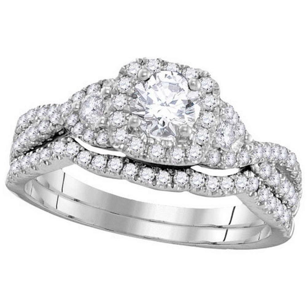 14KT White Gold 1.00CTW DIAMOND 0.33CT-CRD BRIDAL SET #1AC64627