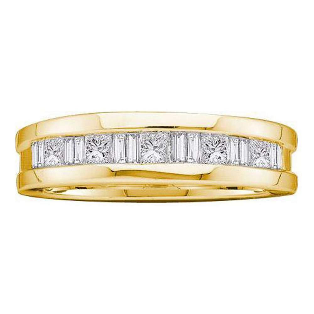14KT Yellow Gold 1.00CTW DIAMOND MENS INVISIBLE BAND #1AC56276