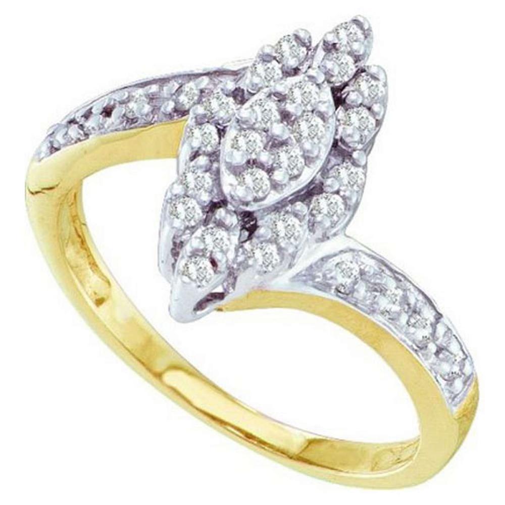 10KT Yellow Gold 0.25CTW DIAMOND LADIES CLUSTER RING #1AC52123
