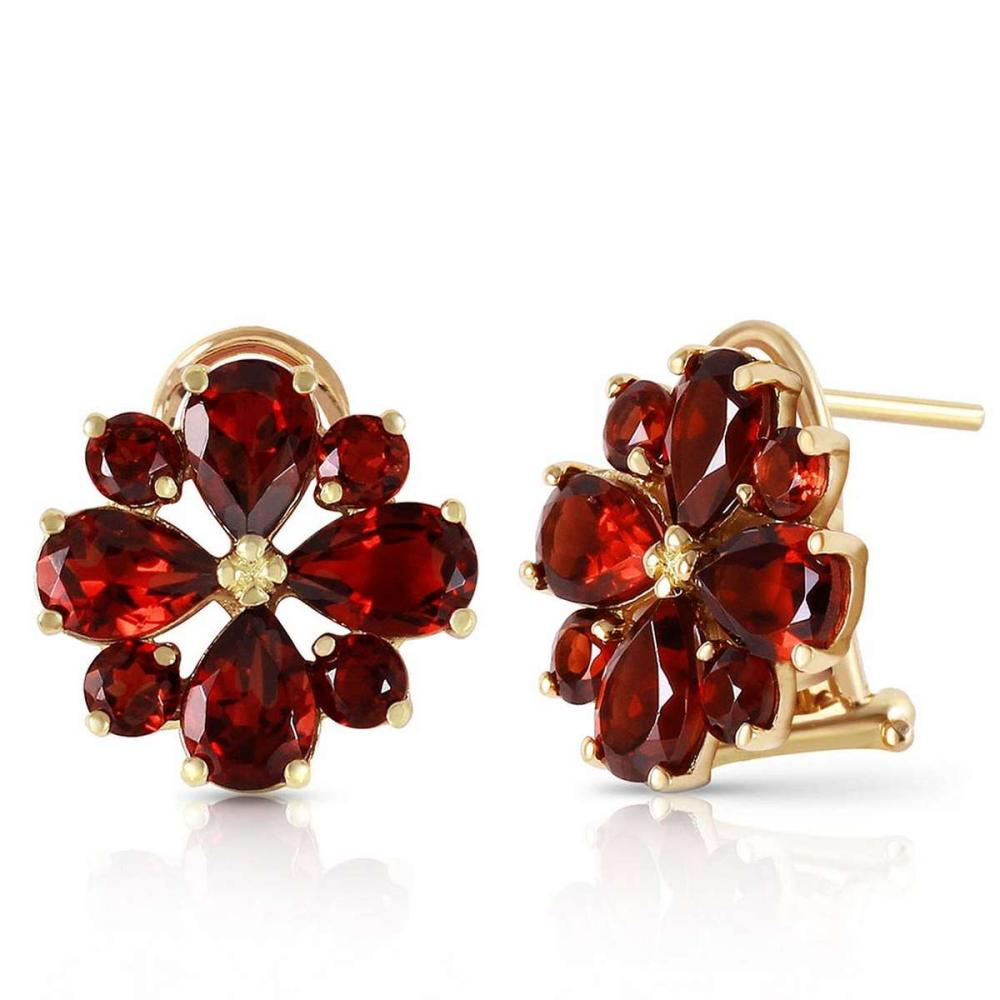 4.85 Carat 14K Solid Gold Fiore Garnet Earrings #1AC92597