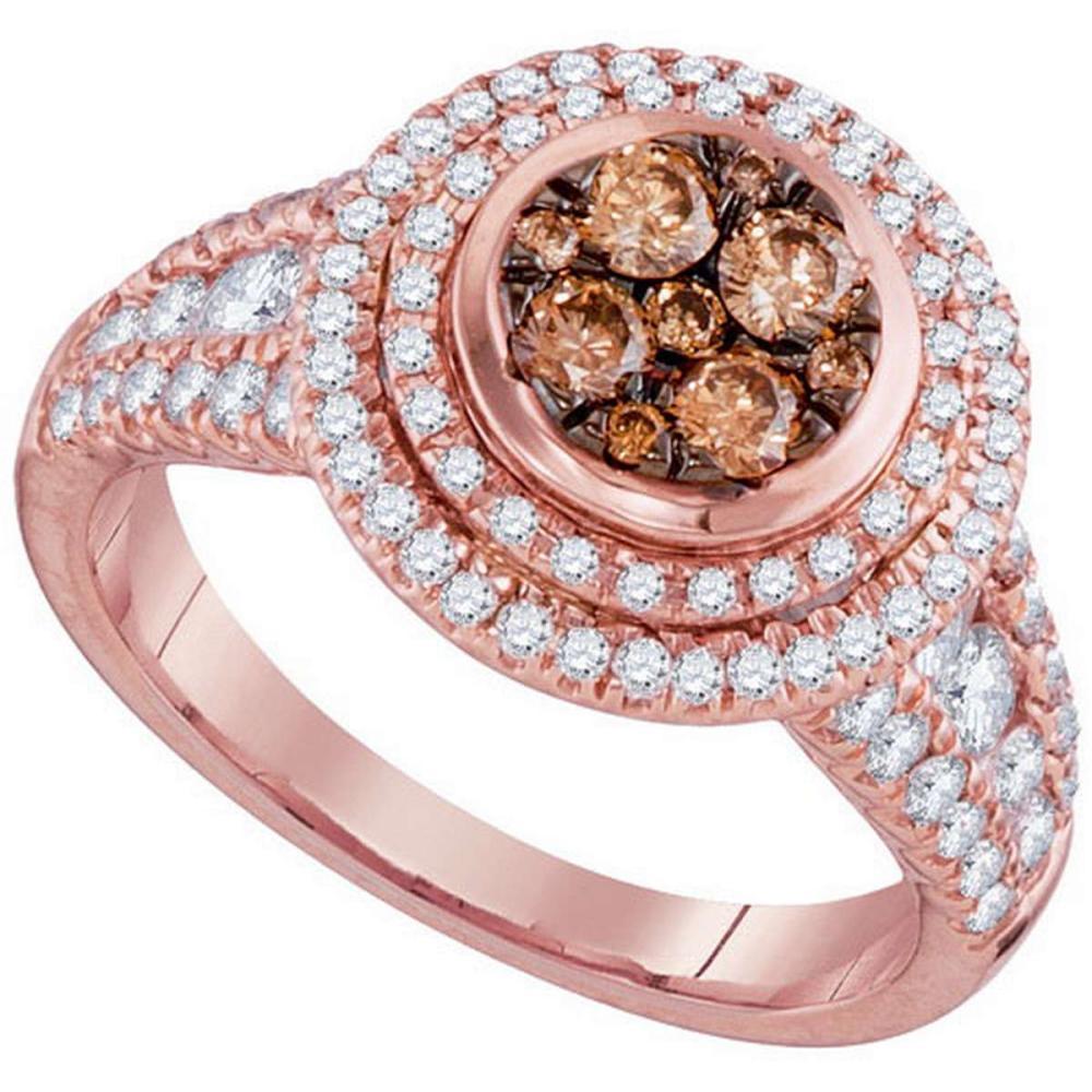 14KT Rose Gold 1.51CTW DIAMOND FASHION RING #1AC64143