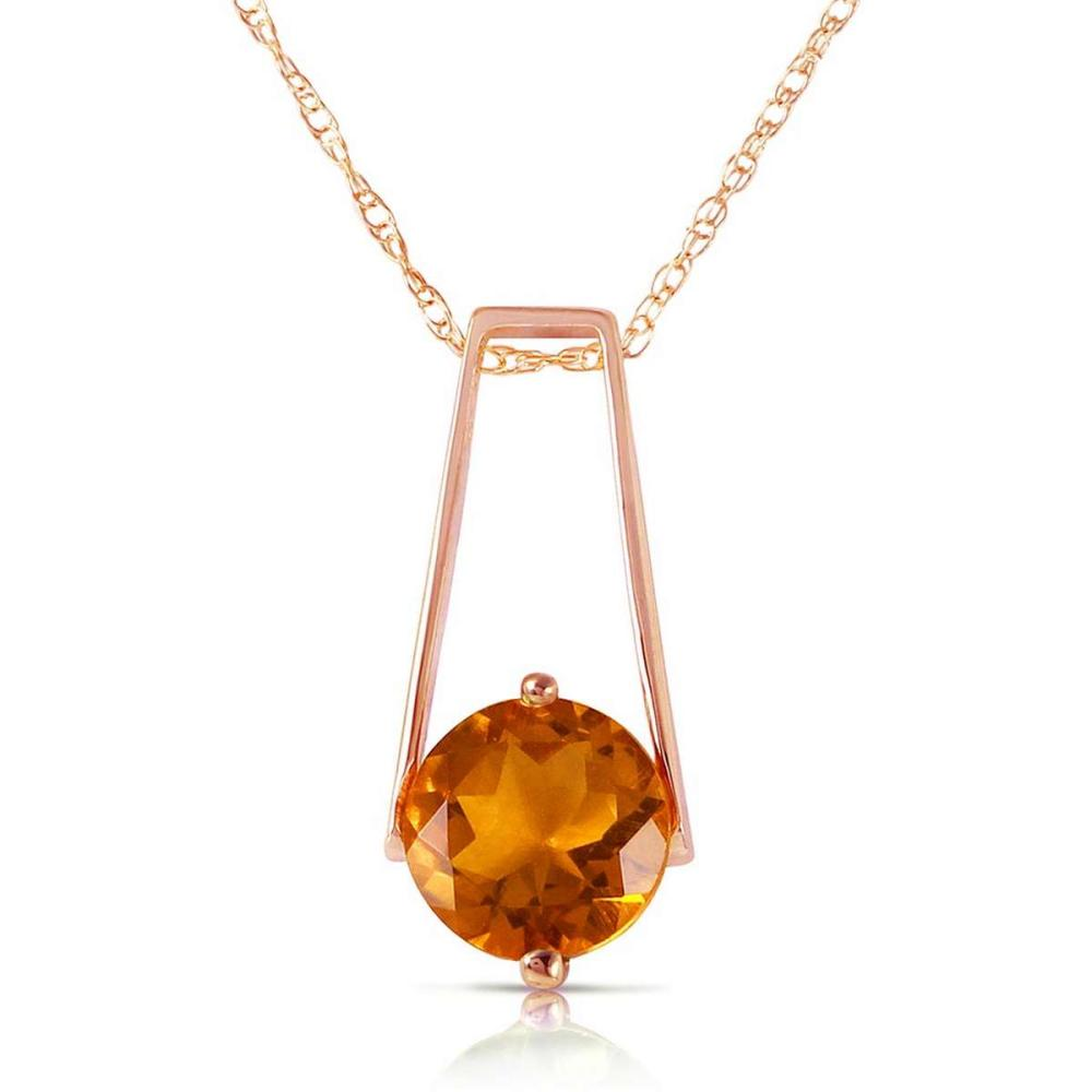 1.45 Carat 14K Solid Rose Gold Lullaby Citrine Necklace #1AC92370