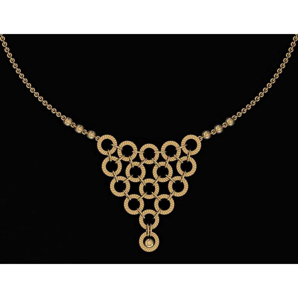 Certified Beautiful 18K Yellow Gold Light Weight Necklace #1AC23570