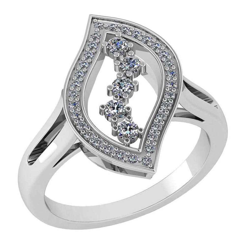 Certified 0.92 Ctw Diamond VS/SI1 Ring Bands 18K White Gold #1AC23620