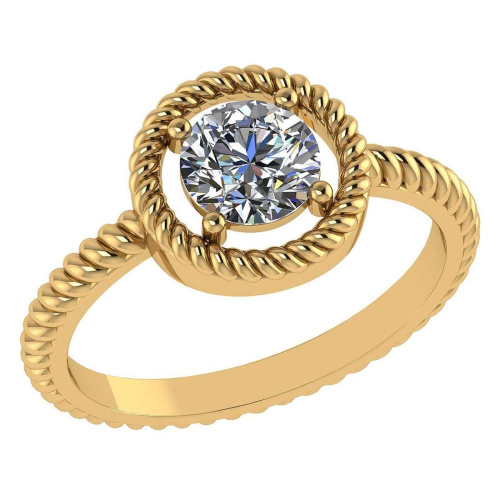 Certified 1.00 Ctw Diamond 14k Yellow Gold Ring (VS/SI1) #1AC17853