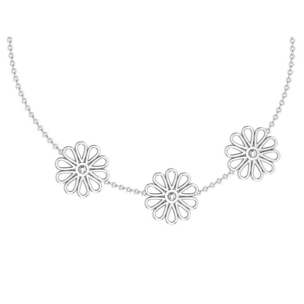 Certified Beautiful 18K White Gold Light Weight Necklace #1AC23569