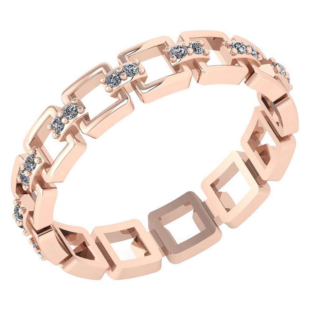 Certified 0.12 Ctw Diamond VS/SI1 Filigree Band 18K Rose Gold #1AC23607