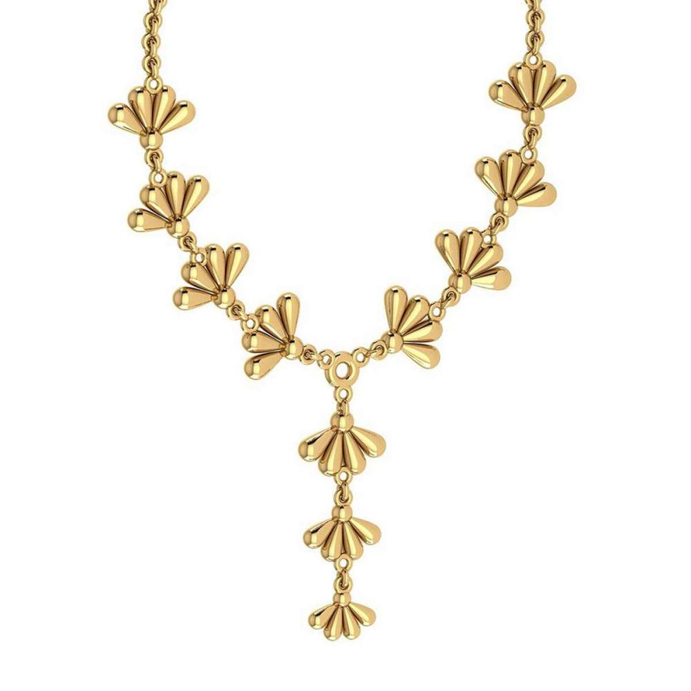 Certified Beautiful 18K Yellow Gold Light Weight Necklace #1AC23576