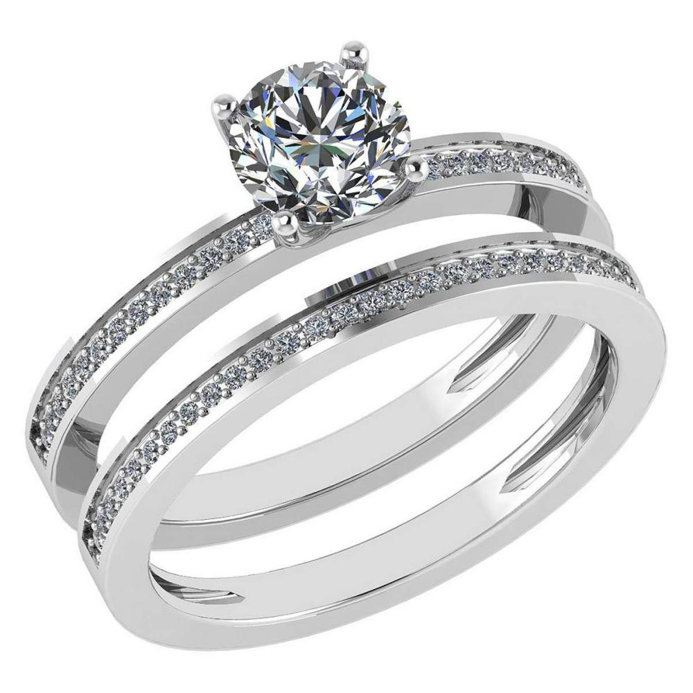 Certified 0.73 Ctw Diamond 14k White Gold Ring (VS/SI1) #1AC17849