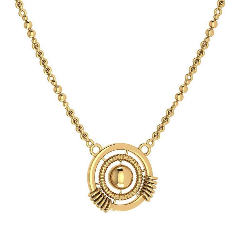 Certified Beautiful 18K Yellow Gold Light Weight Necklace #1AC23561