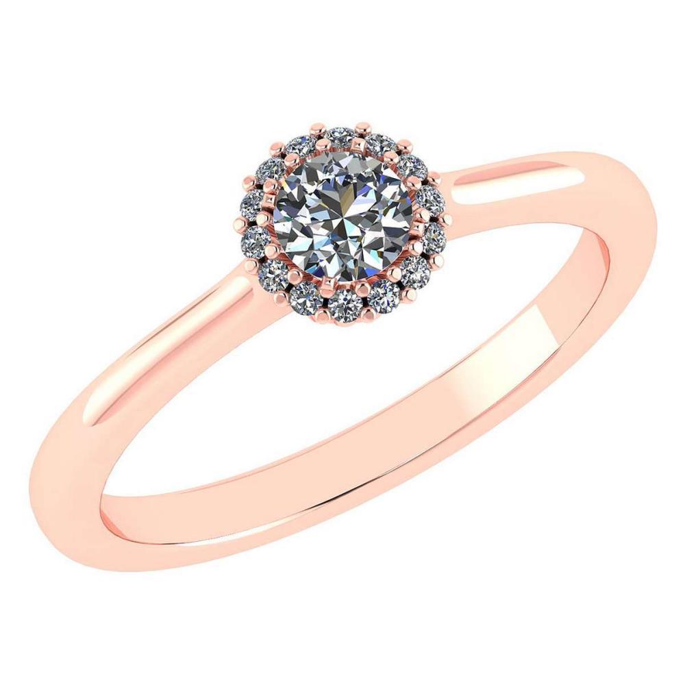 Certified 0.52 Ctw Diamond 14k Rose Gold Ring (VS/SI1) #1AC17837