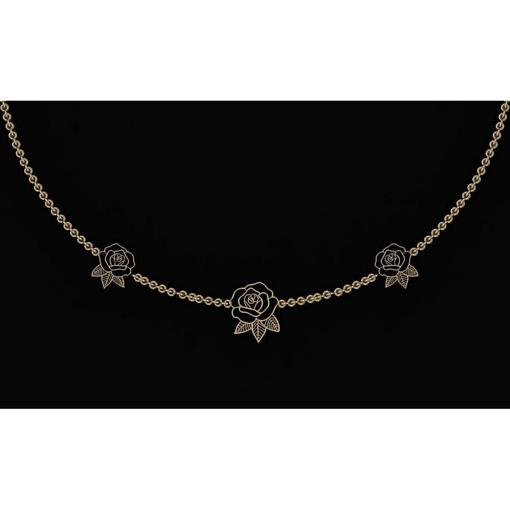Certified Beautiful 18K Yellow Gold Light Weight Necklace #1AC23573