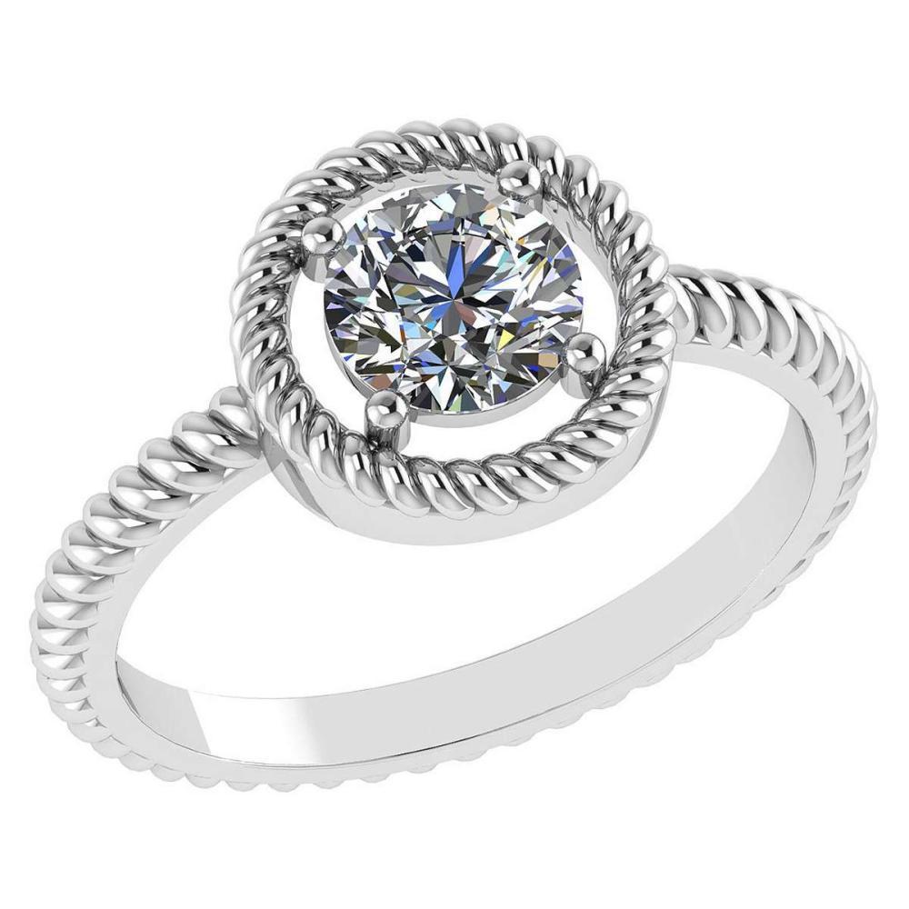Certified 1.00 Ctw Diamond 14k White Gold Ring (VS/SI1) #1AC17855
