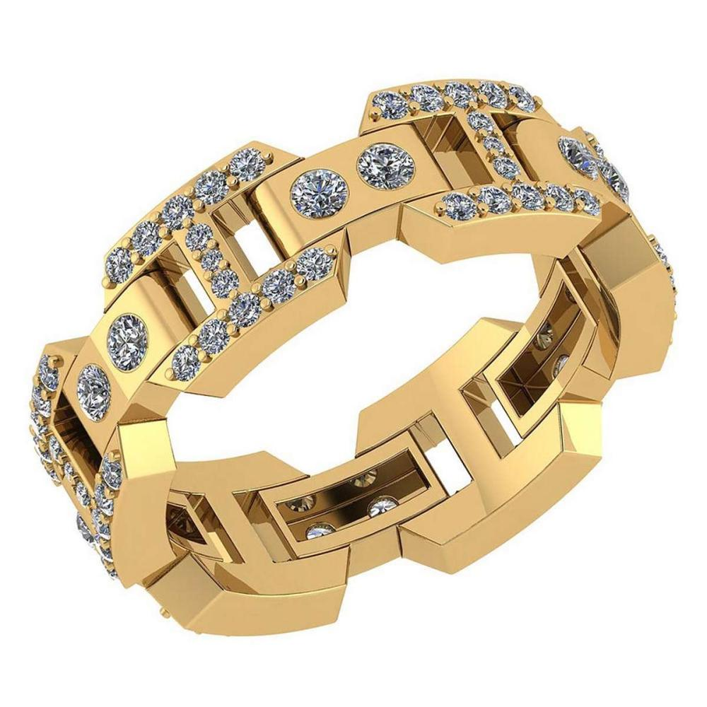 Certified 0.85 Ctw Diamond VS/SI1 Mens Bands 18K Yellow Gold #1AC23536