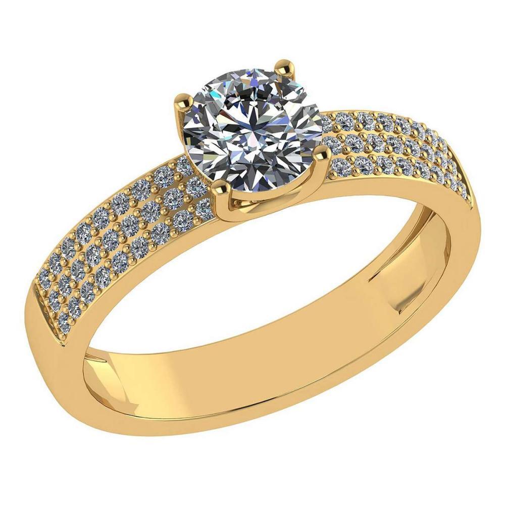 Certified 0.97 Ctw Diamond 14k Yellow Gold Ring (VS/SI1) #1AC17846