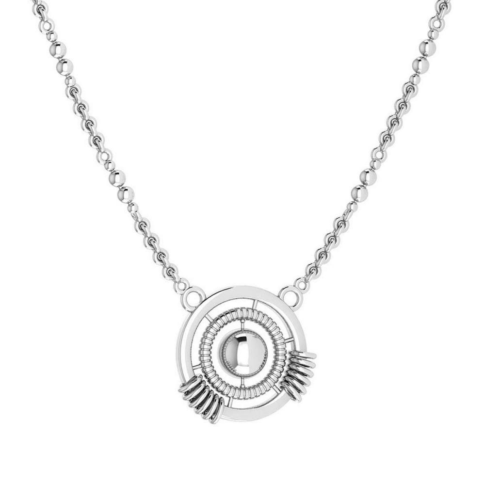 Certified Beautiful 18K White Gold Light Weight Necklace #1AC23563