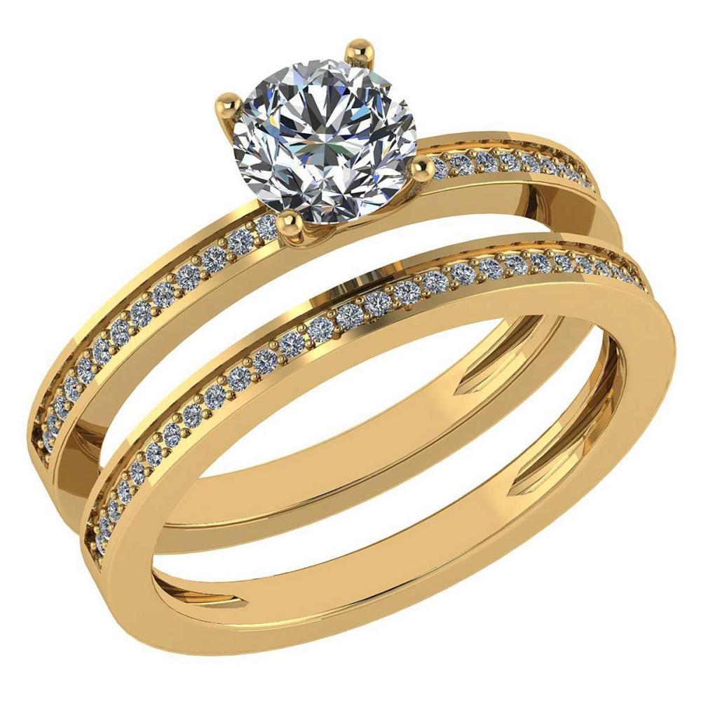 Certified 0.73 Ctw Diamond 14k Yellow Gold Ring (VS/SI1) #1AC17847