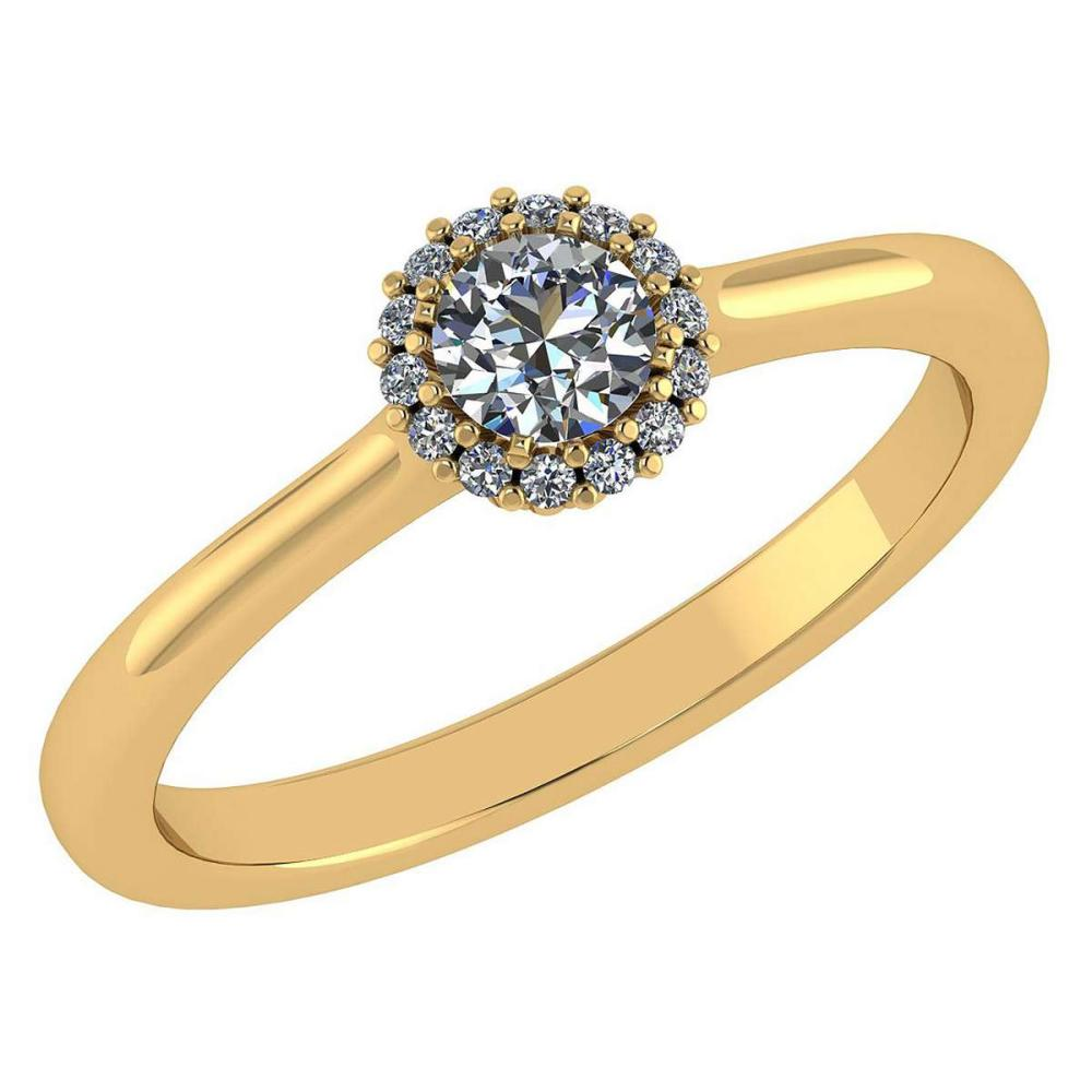 Certified 0.52 Ctw Diamond 14k Yellow Gold Ring (VS/SI1) #1AC17836