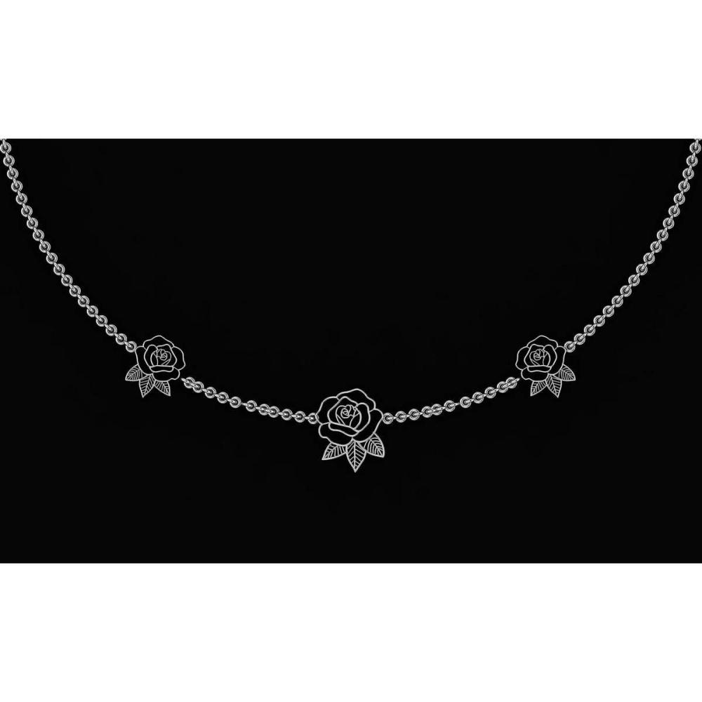 Certified Beautiful 18K White Gold Light Weight Necklace #1AC23575