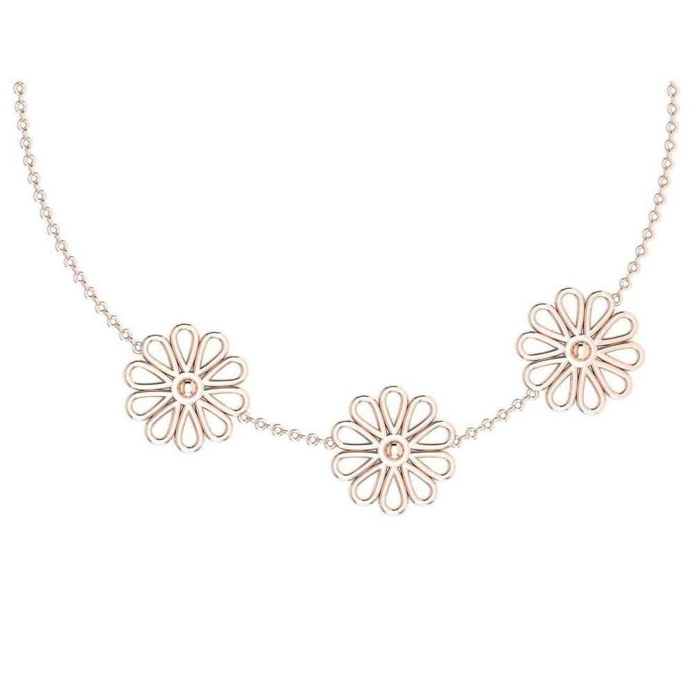 Certified Beautiful 18K Rose Gold Light Weight Necklace #1AC23568