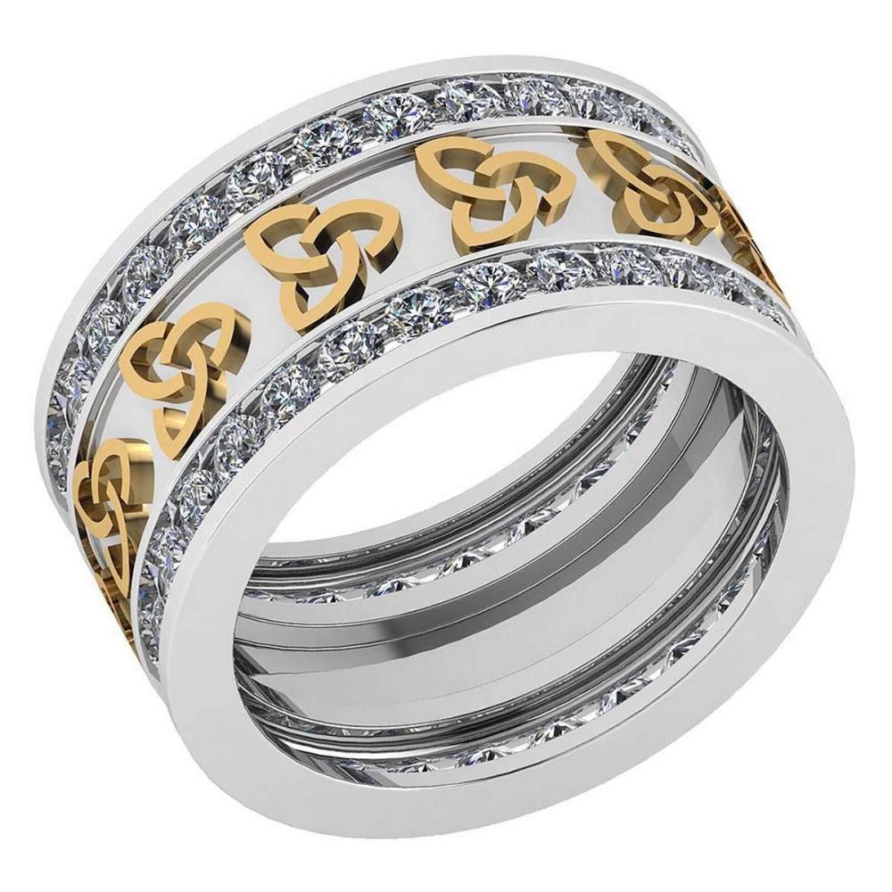 Certified 1.68 Ctw Diamond VS/SI1 Mens Bands 18K White Gold #1AC23537