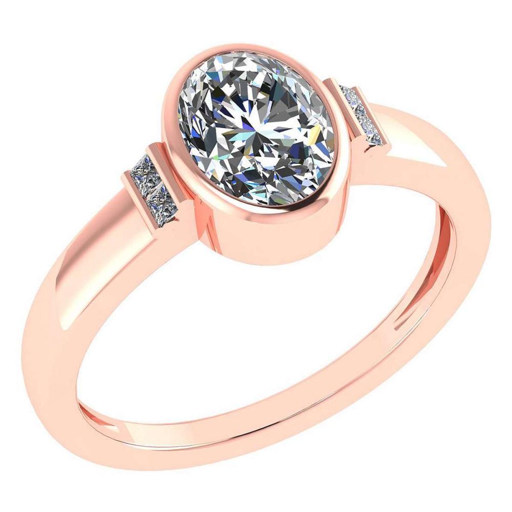 Certified 1.28 Ctw Diamond 14k Rose Gold Ring (VS/SI1) #1AC17842