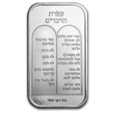 1 oz Silver Bar - Ten Commandments (Hebrew)