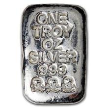 1 oz Silver Bar - Atlantis Mint (Skull & Bones)
