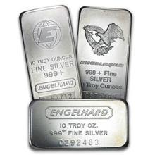10 oz Silver Bar - Engelhard (one piece per lot)