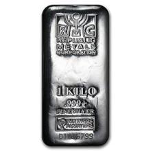 1 kilo Silver Bar - Republic Metals Corporation (RMC)