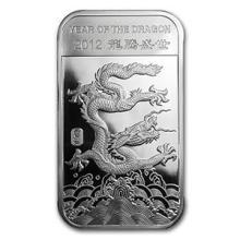 10 oz Silver Bar - (2012 Year of the Dragon)