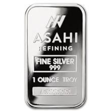 1 oz Silver Bar - Asahi (Serialized)