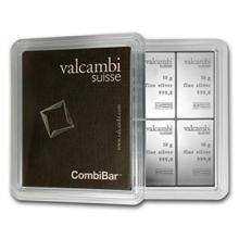 10x 10 gram Silver Bar - Valcambi Silver CombiBar
