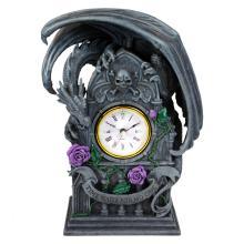 Haind Painted Resin Dragon Beauty Clock