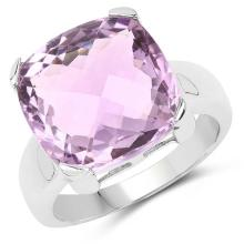 11.93 Carat Genuine Amethyst .925 Sterling Silver Ring