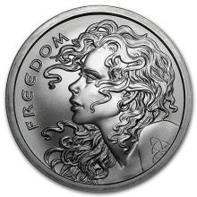 2016 2 oz Silver Round - Freedom Girl (LOT OF 2)
