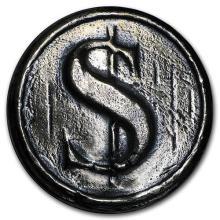 3 oz Silver Round - MK Barz & Bullion (Dollar Sign) (2 PIECE LOT)