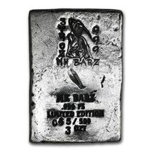 3 oz Silver Bar - Grim Reaper (Limited Edition, 2nd Design)
