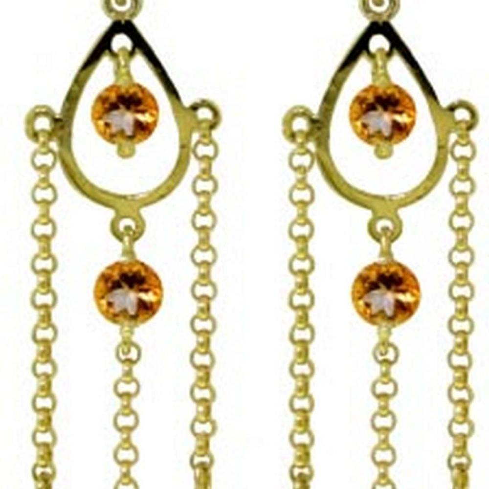 Lot 1006: 3 Carat 14K Solid White Gold Walking In The Sand Citrine Earrings