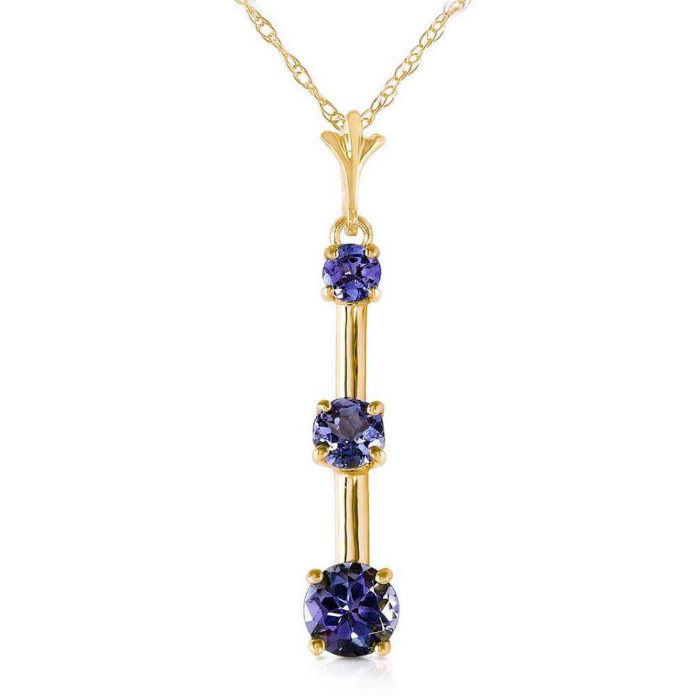 1.25 Carat 14K Solid Gold Evening Of Poetry Tanzanite Necklace