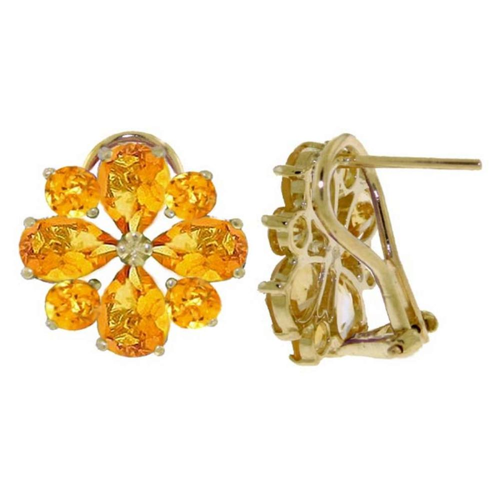 Lot 1017: 4.85 Carat 14K Solid White Gold Love Accents Citrine Earrings