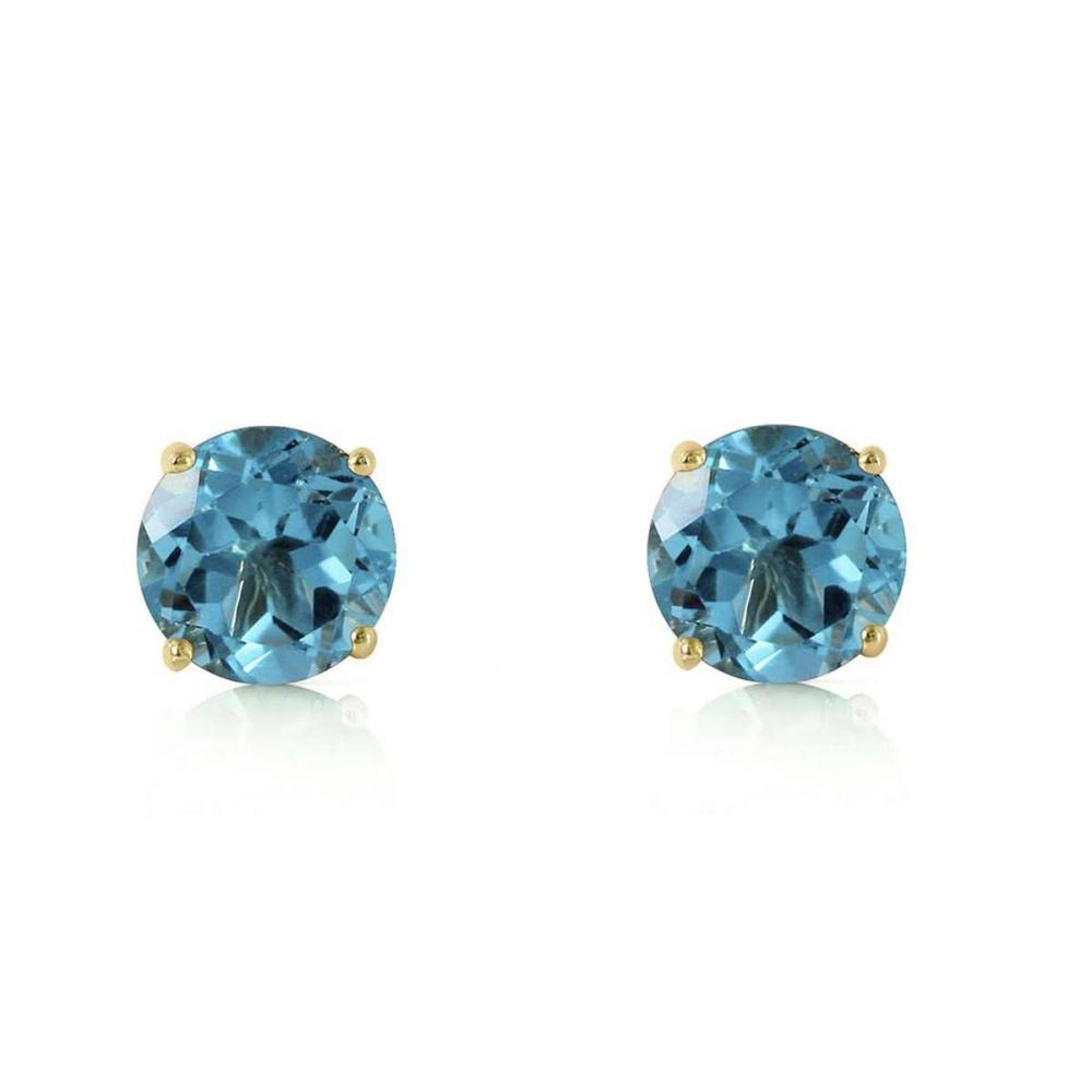 Lot 1021: 0.95 CTW 14K Solid Gold Honored Guest Blue Topaz Earrings