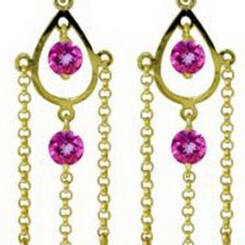 Lot 1022: 3 Carat 14K Solid White Gold Proof Of Love Pink Topaz Earrings