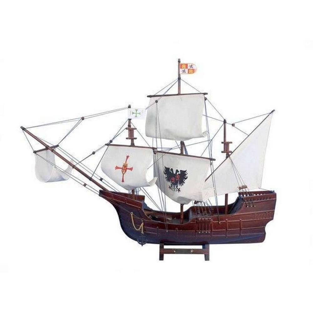 Wooden Santa Maria with Embroidery Tall Model Ship 30